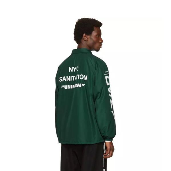 17FW Heron Preston x DSNY Jacke Edition Green Nylon Jacke Herren Damen High Street Oberbekleidung Hip Hop Long Sleeves Jacke HFYTJK004