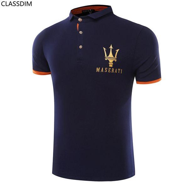 Maserati Crown Printed Men's Polo Shirt Men's Cotton Comfortable Golf Shirt Worn Polo Shirt 3 Colors Size L-3XL