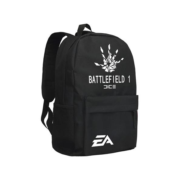 Game Battlefield Backpacks Cool Man Shoulder Bags Rucksack Oxford Black Mochila Sac Boys Teenagers Backpack Schoolbag