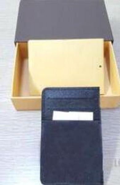 Envío gratis Damier Gennuine portadores de la tarjeta de cuero para mujer cartera de tarjeta de crédito negro marrón letra 3colors marca alta calidad monedero