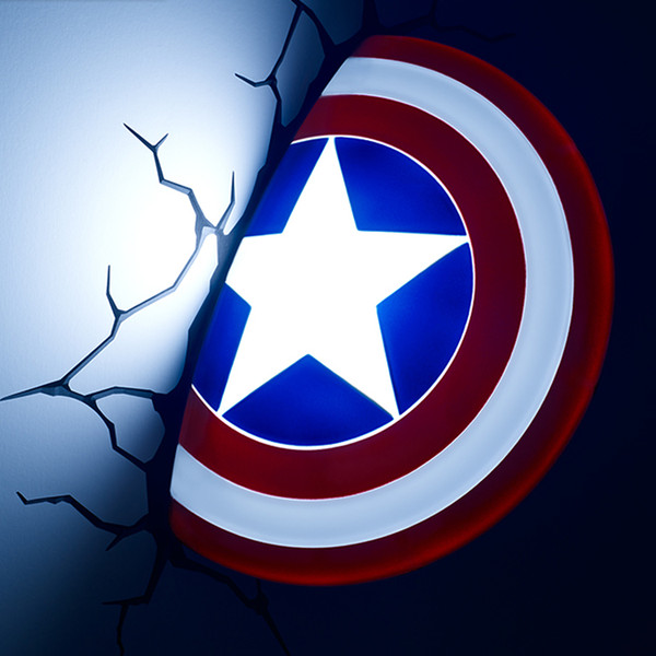2018 marvel avengers captain america marvel shield 3d creative marvel avengers captain america marvel shield 3d creative nightlight male gift personalized decoration wall lamp bedside mozeypictures Gallery