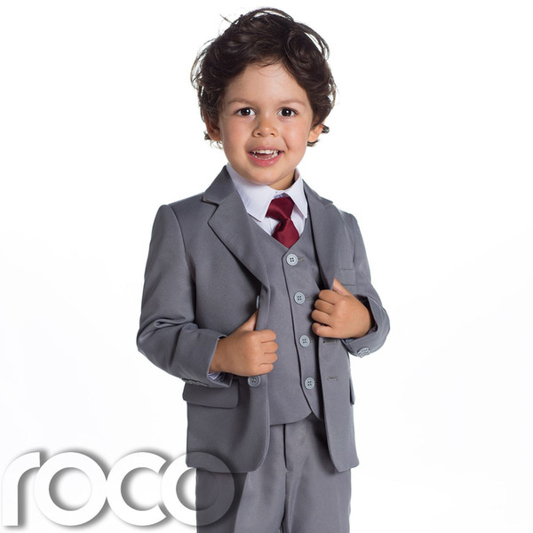 Baby Boys Grey Suit, Page Boy Suits, Baby Boys Wedding Suit, 1 - 14 ...