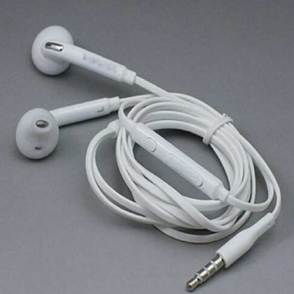 Factory Promotion Top Quality White 3.5MM In-Ear Music Headset DJ Headphones With Mic Universal Earphone For Samsung S6 i9800 S6Edge S4 S5