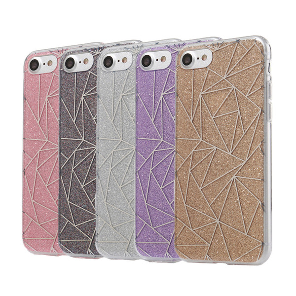 best selling New Fashion Glitter Powder Case For iPhone 6 7 7Plus Bling Sparkling Luxury Silicone Soft Case Cover For iphone7 Plus