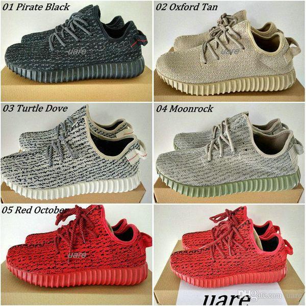 Großhandel Adidas Yeezy 350 Boost Schuhe Piraten Schwarz Schildkröte Taube Moonrock Oxford Tan Sport Womens Herren Laufschuhe Kanye West YZY Yeezys