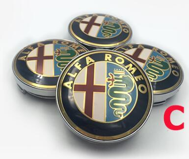 Wholesale 100pcs 60mm(2.36inch) logo Wheel Emblem Badge Wheel Hub Caps Center Covers for Mito 147 156 159 166 Giulietta Spider