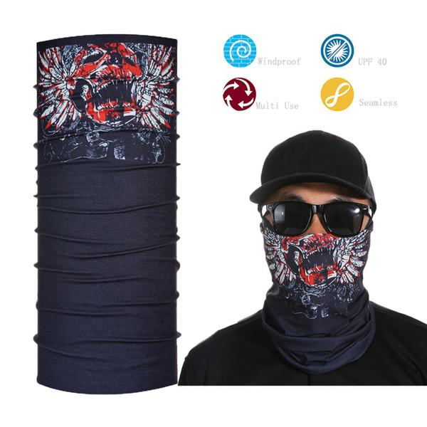 Großhandels- Mens Womens Elastic Bandana Stirnband Schädel Half Face Shield