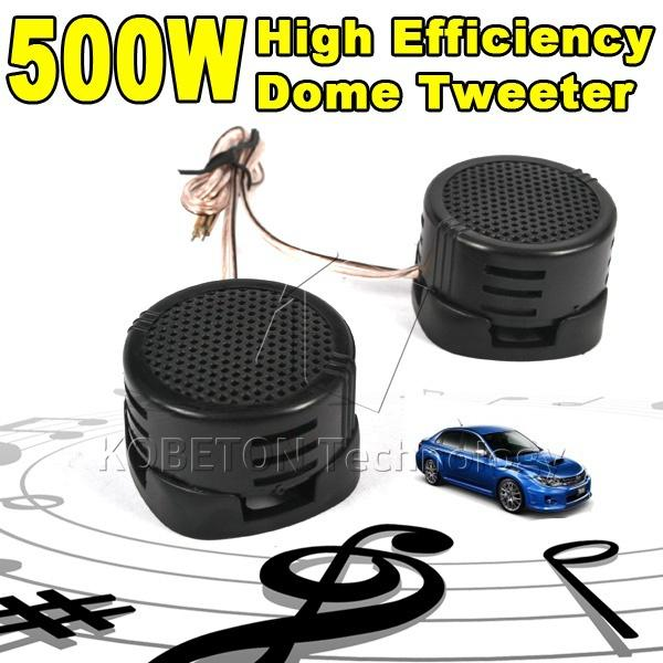 Wholesale- 1pair Universal High Pitch Loudspeaker HF 2 X 500W SUPER POWER DOME LOUD SPEAKER TWEETER Klaxon Tone Loudspeaker For Car