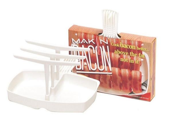 30Pcs Microonde Makin Bacon Rack Hanger Cooker Vassoio Cook Bar Crisp Colazione Pasto Home Dorm carne appendini bacon gancio di cottura cremagliera con scatola