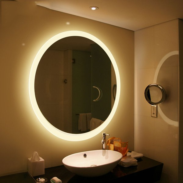 China Manufacturers Top Quality Ip44 Waterproof Round Illuminated Led Bathroom  Mirror Back Light Led Backlit Mirror