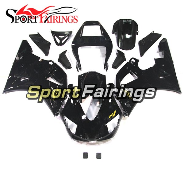 Injection Plastics For Yamaha YZF1000 YZF R1 98 99 1998 - 1999 ABS Fairings Motorcycle Full Fairing Cowlings Gloss Black with Gold Decals