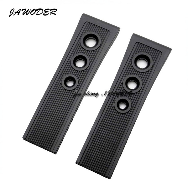 best selling JAWODER Watchband 22mm 24mm (Buckle 20mm) Men New Top Grade Black Diving Silicone Rubber Watch Band Strap for B-R-E Watch