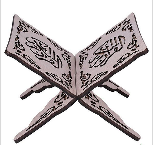 Al por mayor-Quran soporte del libro soporte manos libres soporte de lectura Quran titular de la pluma plegaria religioso titular del libro de la oración soporte de exhibición de madera