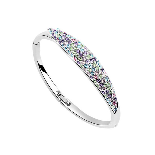 high quality nickel free plating luxury bangles womens bangles brand bangles made with genuine Austrian crystal best gift