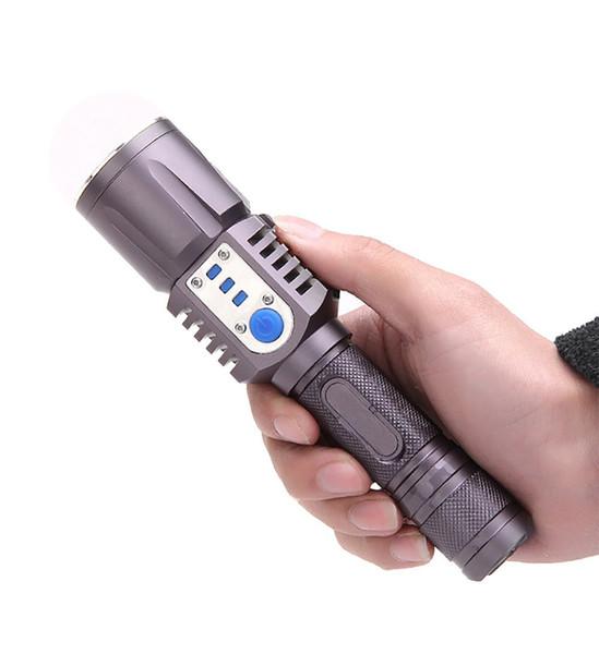 Rechargeable USB led Flashlight XM-L2 Lantern High Power Torch 3800 lumen Zoomable Flash light lantern Tactical bike