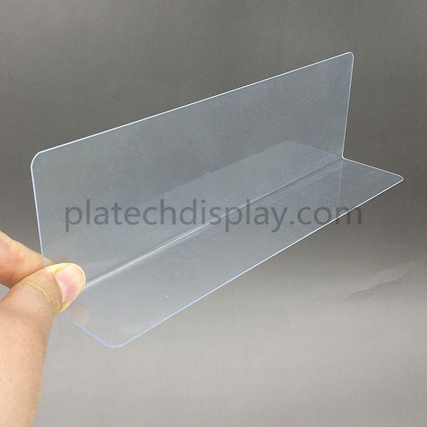 full kinds plastic pvc thick 08mm clear storage rack shelf dividers side splitter holder in