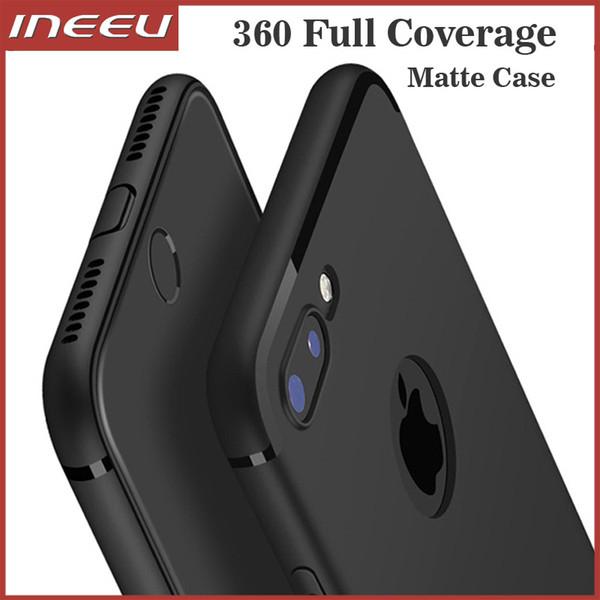 Ultra Delgada Mate Negro TPU Silicona Funda Cubierta de delgada línea para todos los Apple iPhone Accesorios moviles Fundas y carcasas para teléfonos móviles y PDAs