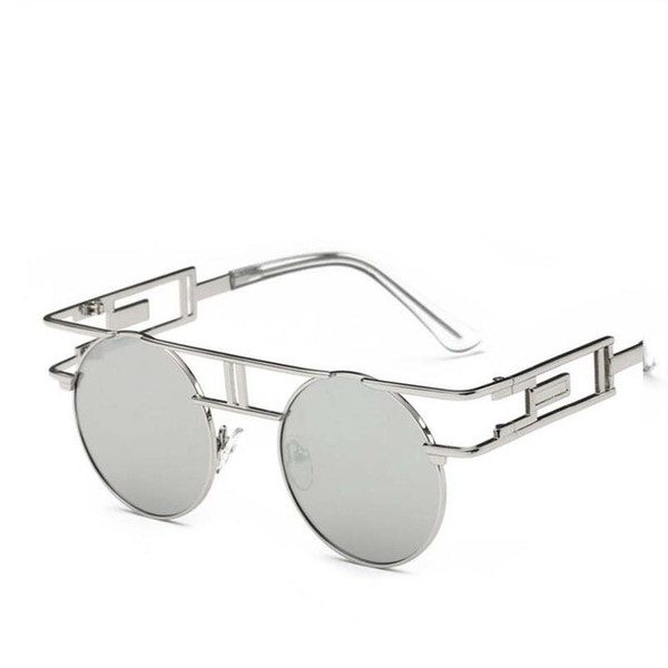 2017 Trendy Women Brand Designer Unique Men Gothic Sun glasses Polarised Round Metal Frame Steampunk Sunglasses Vintage