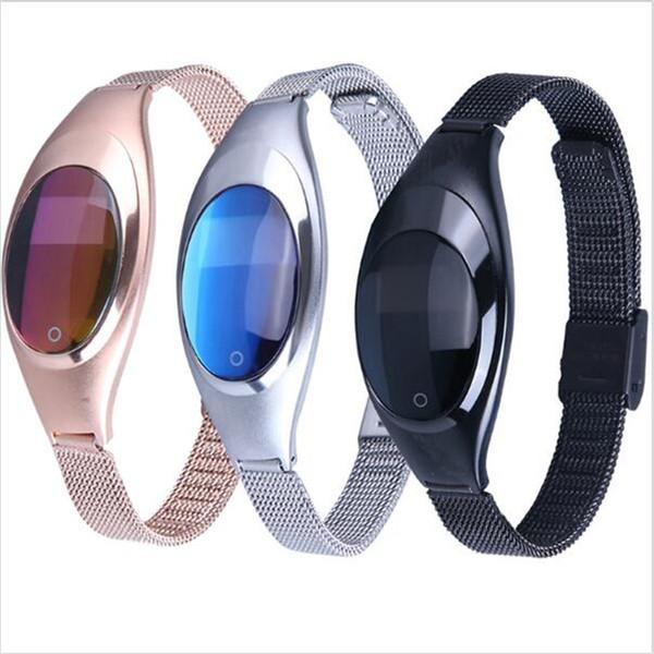 Z18 Banda Inteligente de Presión Arterial Monitor de Ritmo Cardíaco podómetro bluetooth wristband Para IOS Android Regalo de Las Mujeres Reloj de Lujo