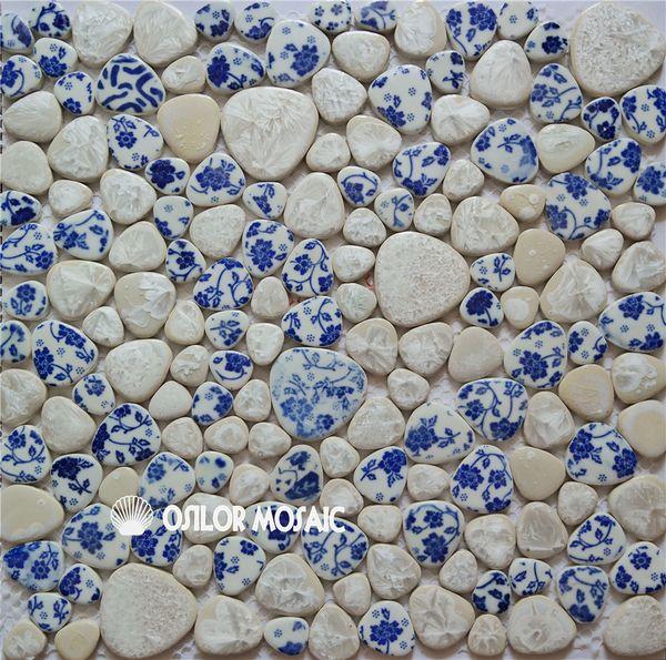 irregular pattern ceramic mosaic tile for bathroom and kitchen decoration wall tile floor tile 4 square meters per lot