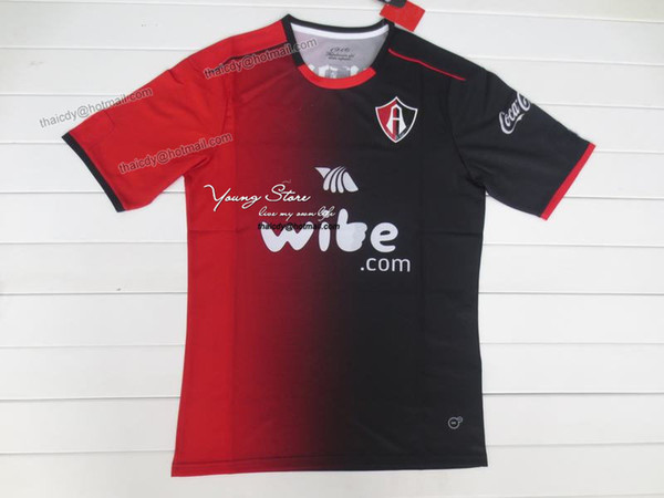 eaa151632 Atlas 16-17 Home Fãs Versão Futebol Camisa tailandesa Qualidade Futebol  Camisas AAA + Qaulity