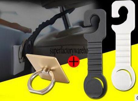 Mobile phone ring multi-function car hook ring ring bracket hook creative car rear seat bracket hook car supplies package