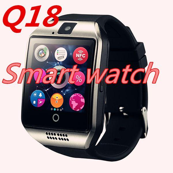 Q18 смарт-часы Часы с Sim-карты TF слот Bluetooth подходит для ios Android телефон Smartwatch PK DZ09 A1