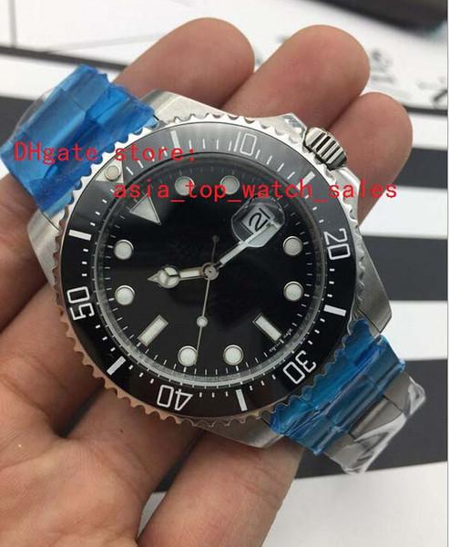 2017 Fornecedor Da Fábrica mais recente versio 116660 43mm Cerâmica preta Dial Grande janela do calendário Automático Mens watch