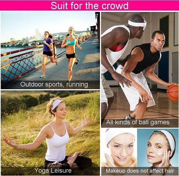 Pure Cotton Lady Girls Running Sports Sweatband Sweat Absorbing Sports Women Yoga Headband Sports Protective Safety Protector Head Band 20pc