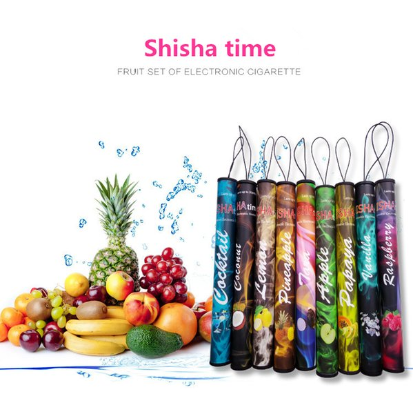 50pcs E ShiSha time e cig Disposable Electronic Cigarette shisha e-cig 500 puffs Various Fruit Flavors Hookah pen DHL Free shipping