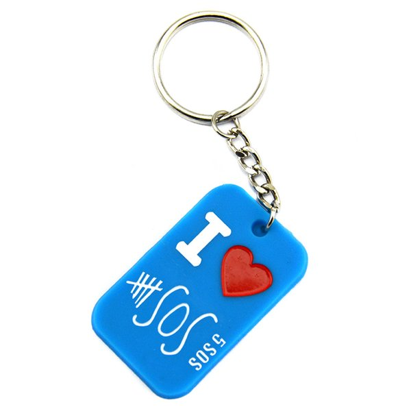 Hot Sell 1PC Ink-Filled Colour 5SOS Silicone Keychain Great To Used In Any Benefits Gift For Music Fans