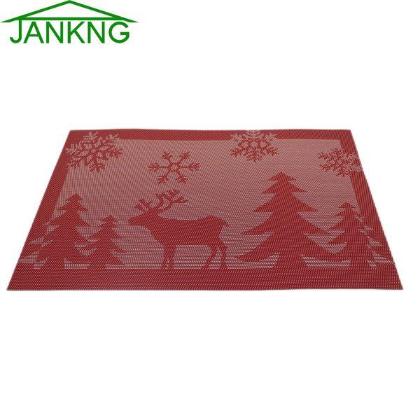 Wholesale- JK HOME 4 PCS/Lot 30*45cm Square Placemats Dining Christmas Tables Place Mats Pad Tableware Restaurant Accessories Supplies