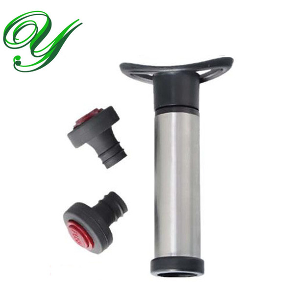 Vino vuoto tappo pompa a vuoto sealer saver preserver bottiglie di silicone tappo di sughero in acciaio inox bar strumenti accessori forniture regalo set