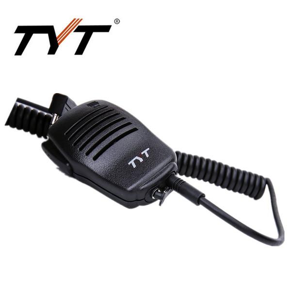 Wholesale- Original TYT High-quality PTT Speaker MIC For Tytera walkie talkie Speaker Microphone DM-UVF10 MD-380 MD-390 Baofeng UV-5R UV82