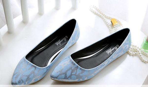 2017 new summer gourd ladle shoes women flat shoes lighter single shoe joker big yards for women's shoes