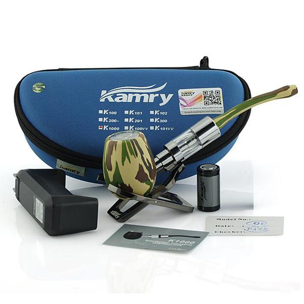 Original e cigarette kamry k1000 pipe vaporizer vape pen vape mod starter kits 900mah Battery huge vapor e liquid atomzier glass pipe