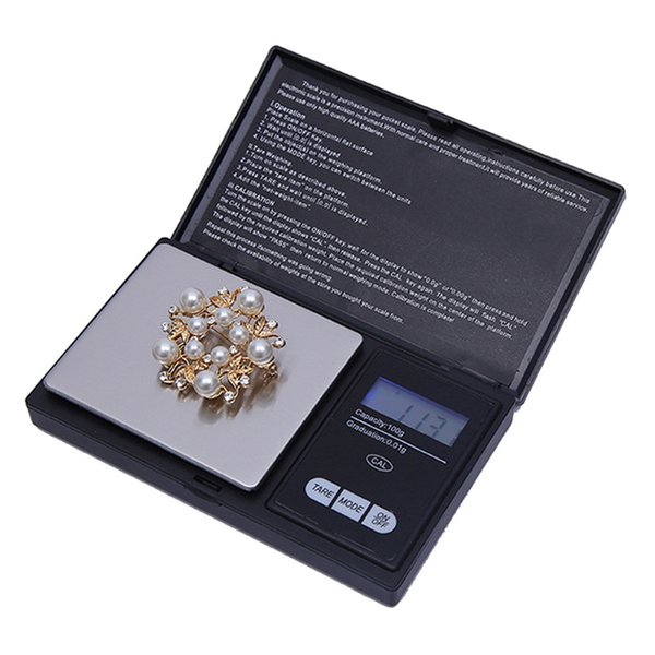 High Quality Pocket Mini Digital Scale 100g x 0.01g Electronic Precise Jewelry Scale High precision Kitchen scales With LED Backlight