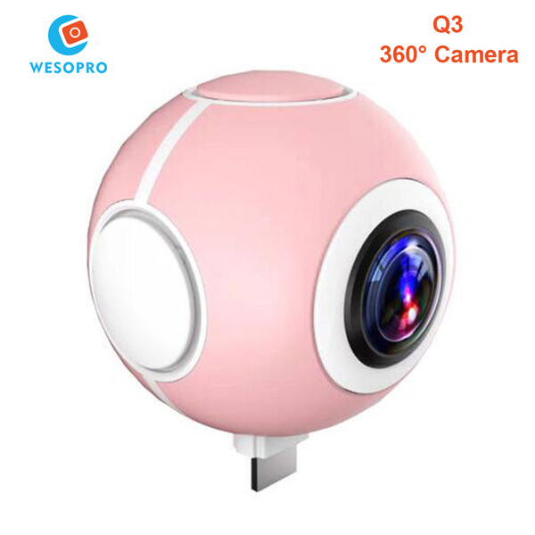 2017 Best Selling Mini Panoramic 360 Camera 360 Degree Cam HD Wide Dual Angle Fish Eye Lens VR Video Camera for Andriod Smartphone