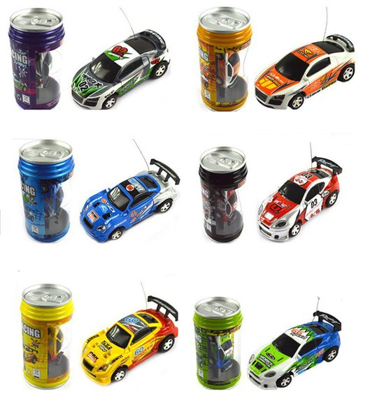 48pcs Mini-Racer Remote Control Car 1:63 Coke Can Mini RC Radio Remote Control Micro Racing Car Christmas toys gifts for children