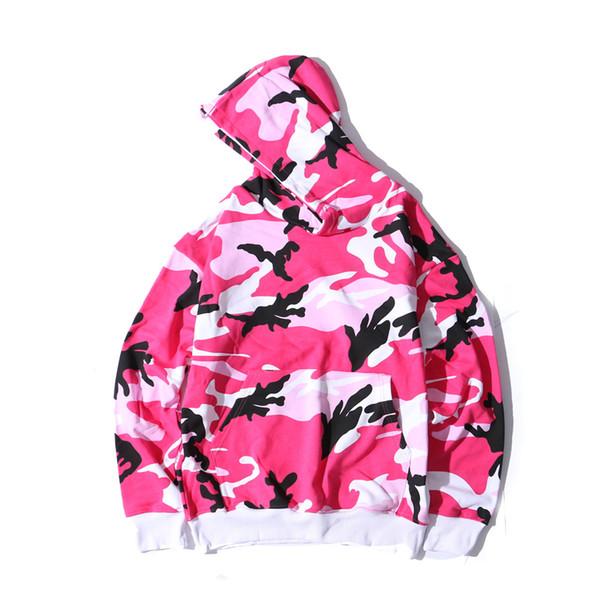 Sonbahar ve kış erkekler hoodies yeni büyük boy gevşek versiyonu kamuflaj severler kazak spor hoodie hip hop