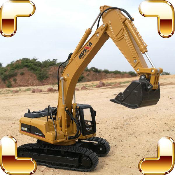 Christmas Gift 1/40 Digger Excavator Machine Metal Model Big Engineering Truck Vehicle Car Simulation Alloy Static Die-cast