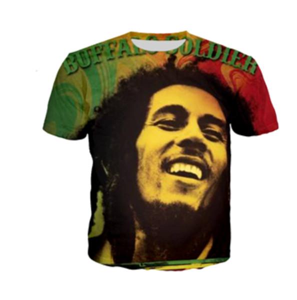 Summer Style Newest Fashion Mens/Womens Bob Marley Funny 3D Print Casual T-Shirt ABCQ00138