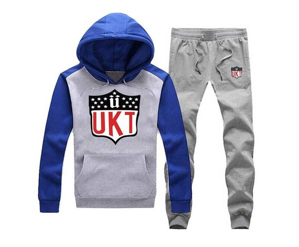 s-5xl 029 free shipping Factory outlets New Autumn Men Tracksuits Slim Fit Fleece Hoodies Printing Male suit