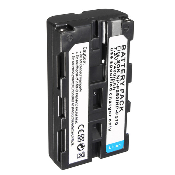 best selling Freeshipping NP-F550 2400mah NP F550 NP-F570 NP F570 Rechargeable Li-ion Camera Battery For Sony NP-F330 F750 CCD-SC CCD-TR