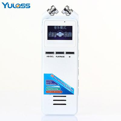 Wholesale- Yulass 8GB Professional Voice Recorder Digital White Multi-Language 369Hours Long Recording USB Audio Recorder With MP3/WMA
