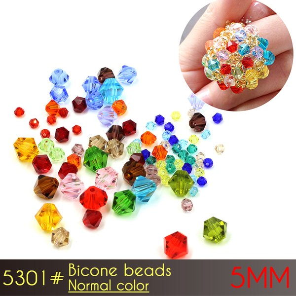 crystal glass beads curtains Bicone Beads 5mm Normall Color A5301 60pcs/set glass beads for jewelry making