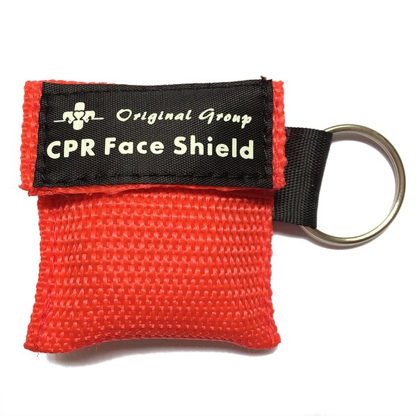 Free Shipping CPR Keychain Masks Cpr Face Shield with One-way Valve for First Aid or AED Training