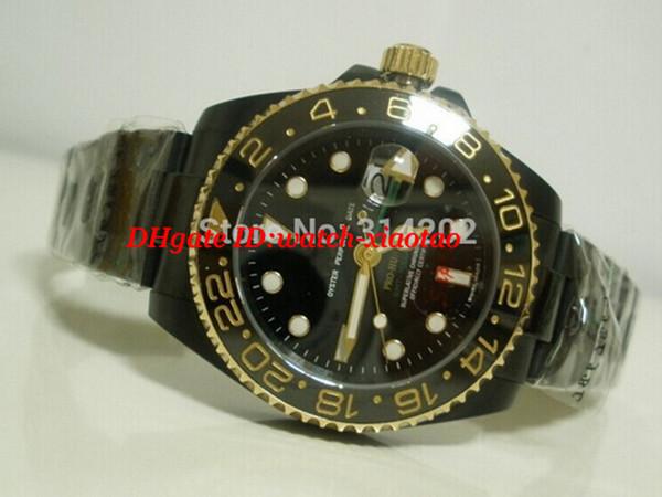 Luxury Wristwatch Stainless Steel Bracelet New Sapphire Glass Black Watches Men Watch Men Automatic Movement Watches