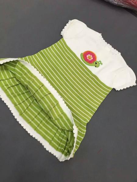 New Children Baby little snail knitting Sweater Girls stripe short sleeves Sweater Dresses wholesale
