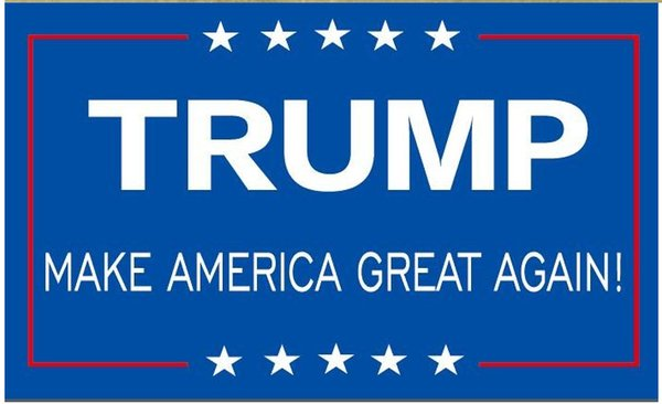 top popular 90*150cm Trump 3x5 Foot Flag 2016 Make America Great Again Donald for President USA American 2016 Presidential Election Flag free ship 2019